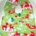 Christmas Terry cloth bib baby bib ..