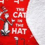 baby toddler bib cat in the hat red..