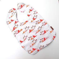 oversize bib toddler bib mandarin birds baby bib